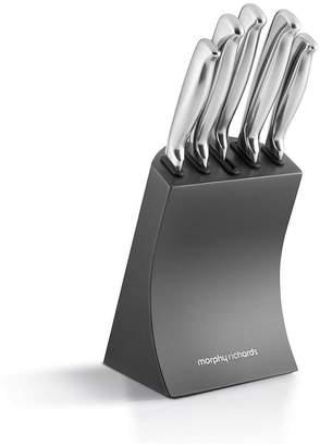 Morphy Richards Accents 5-piece Knife Block Set – Titanium