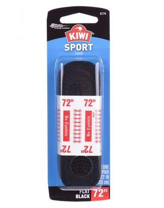"Kiwi Sport Flat Laces Black 72"" 2 pairs"