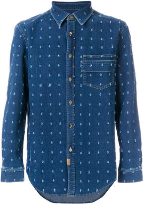 Givenchy distressed patch denim shirt