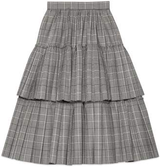 Gucci Prince of Wales check wool skirt