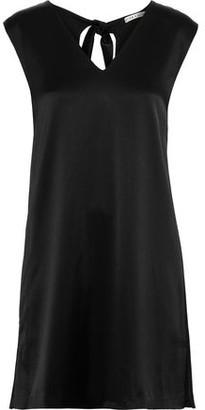 Alice + Olivia Carita Tie-back Satin-crepe Mini Dress