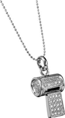 Sydney Evan Pave Whistle Chrarm Necklace
