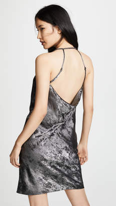Halston Cowl Neck Slip Dress