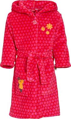 Playshoes Girl's Fleece-bademantel die Maus Bathrobe, (Size:74/80)