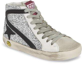 Golden Goose Slide Glitter High Top Sneaker