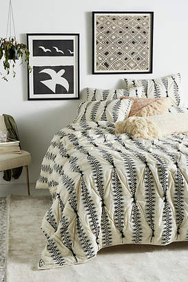 Anthropologie Embroidered Lilou Quilt