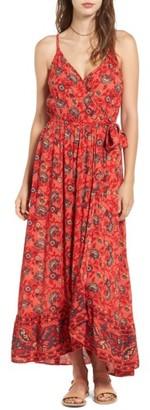 Women's Band Of Gypsies Bohemian Wrap Dress $98 thestylecure.com