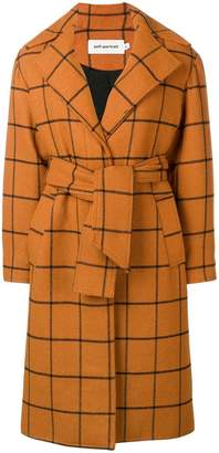 Self-Portrait large check coat