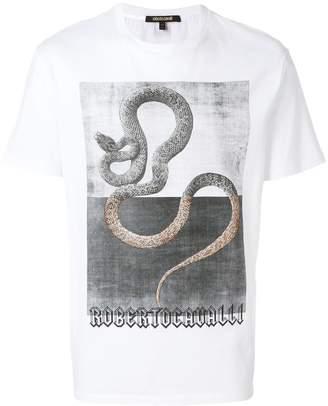Roberto Cavalli snake print T-shirt