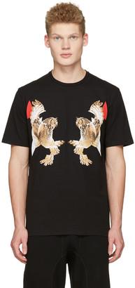 Neil Barrett Black Two Owl T-Shirt $300 thestylecure.com