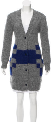Band Of Outsiders Band of Outsiders Patterned Mohair Cardigan