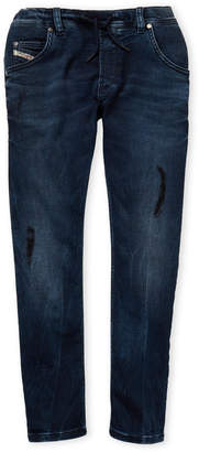 Diesel Boys 8-20) Dark Wash Drawstring Waist Slim Fit Jeans