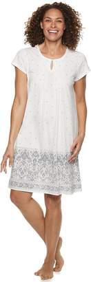 Croft & Barrow Women's Printed Pintuck Nightgown