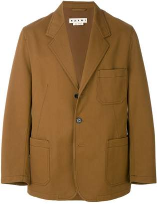 Marni patch pocket blazer