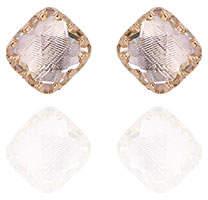 Larkspur & Hawk Jane Button Earrings with Ballet Foil