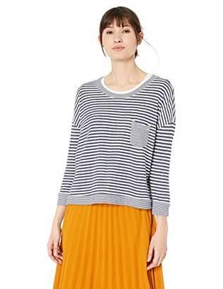 Velvet by Graham & Spencer Women's Tran Double fold Stripe top