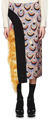 Dries Van Noten Women's Floral- & Peacock-Print Skirt