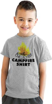Crazy Dog T-shirts Crazy Dog Tshirts Youth Campfire Shirt Funny Firewood Camping Summertime T shirt -L
