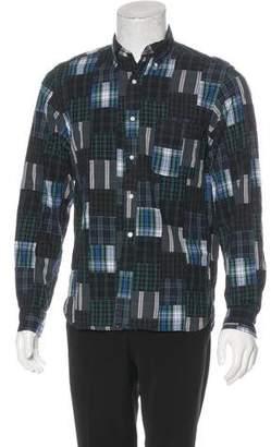 Beams Deconstructed Plaid Shirt