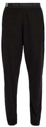 Y-3 Y 3 Logo Print Cotton Blend Long John Trousers - Mens - Black