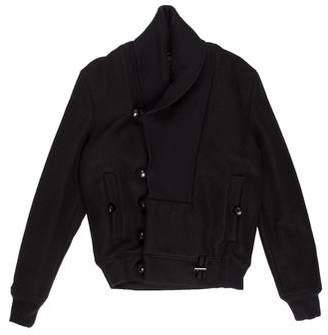 Kris Van Assche Wool Shawl Bomber Jacket
