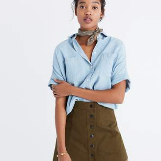 Chambray Courier Shirt in Buckley Wash $75 thestylecure.com