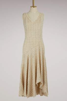 Alexander McQueen Asymmetrical Tweed Midi dress