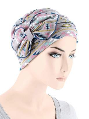 3477861310a Cloche Chemo Fashion Scarf Chemo Winter Hat Ribbed Flower Bow Beanie Cancer  Cap Tribal Navajo Pink