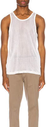 John Elliott Cotton Mesh Tank in Natural | FWRD