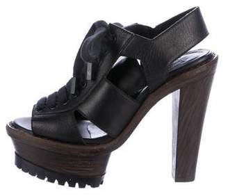 Burberry Lace-Up Platform Sandals
