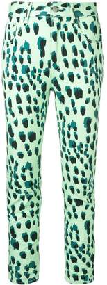 Just Cavalli leopard print high-waisted skinny jeans