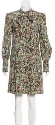 Chloé Long Sleeve Knee-Length Dress