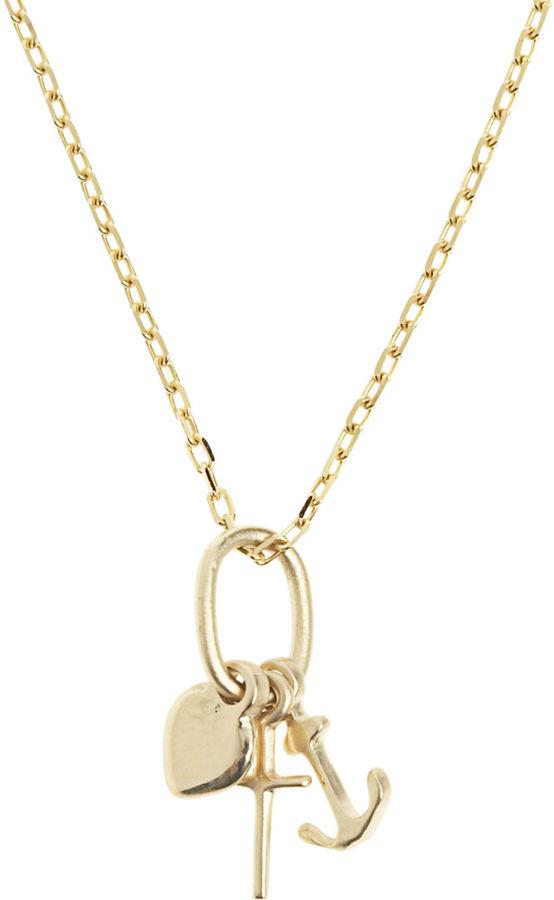 Bianca Pratt Anchor, Heart & Cross Charm Necklace