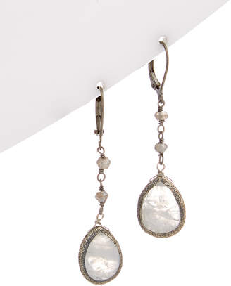 Rachel Reinhardt Plated Gemstone Drop Earrings