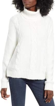 BP Cozy Cable Knit Turtleneck Sweater