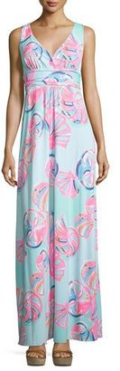 Lilly Pulitzer Sloane Printed Jersey Maxi Dress $198 thestylecure.com