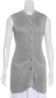 Ralph Lauren Black Label Sleeveless Knit Cardigan