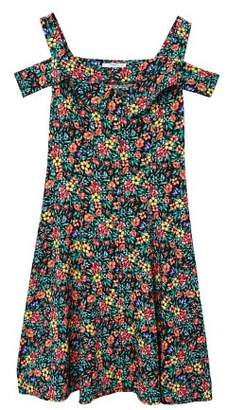 MANGO Flowers cold-shoulder dress