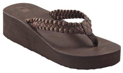 Mossimo Womens Layna Braided Wedge Sandal - Brown