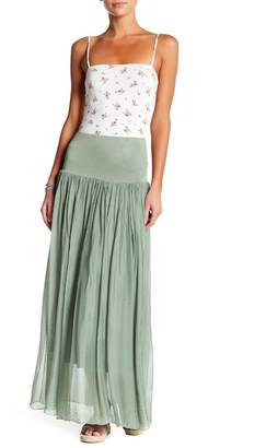 Lola Made In Italy Convertible Silk Maxi Skirt