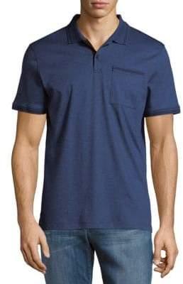 Calvin Klein Solid Marled Polo Shirt