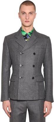 Prada Prince Wales Double Breast Wool Jacket