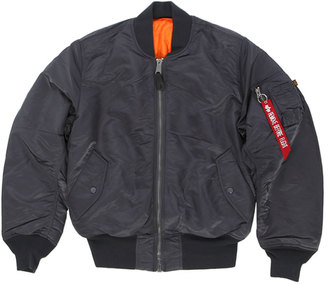 Alpha Industries Men's Ma-1 Flight Jacket $140 thestylecure.com