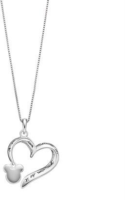 DAY Birger et Mikkelsen Disney's Mickey Mouse Heart Pendant by Timeless Sterling Silver