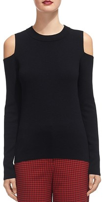 Whistles Cold-Shoulder Knit Top $180 thestylecure.com