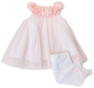 Baby Essentials Miniclasix (Newborn Girls) Two-Piece Rosette Tulle Tunic & Leggings Set