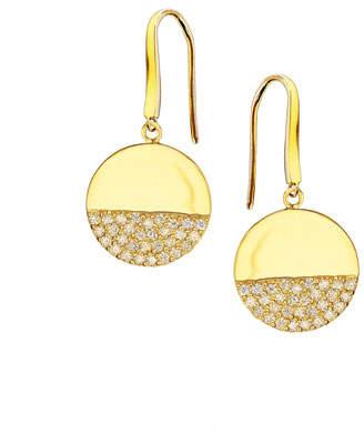 Lana Illusion Pavé Diamond Disc Earrings