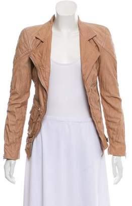 Marc Jacobs Long Sleeve Leather Jacket