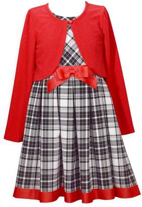 Iris & Ivy Little Girl's 2-Piece Plaid Dress Cardigan Set
