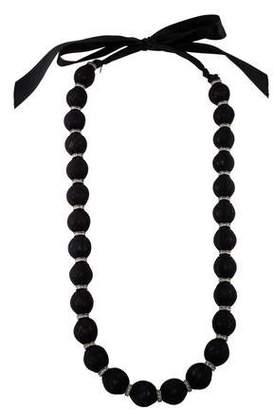 Lanvin Wrapped Bead & Crystal Necklace